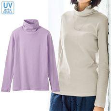 UVカットルーズネックTシャツ