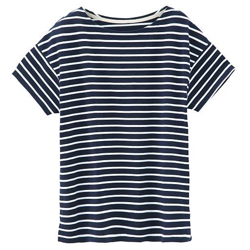 ゆったりボートネックTシャツ
