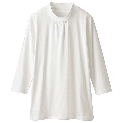 ハイネックギャザーTシャツ(7分袖)