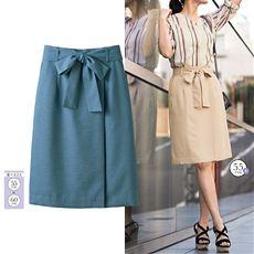 ラップ風リボン付きタイトスカート