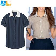 涼感カットソーシャツ(クレリック半袖)
