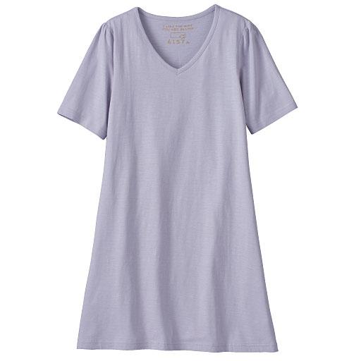 コットンモダールVネックロングTシャツ