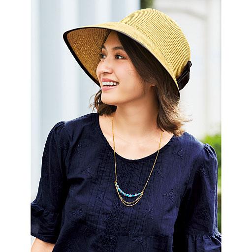 【大きいサイズ プランプ】いつものコーデを一新!差がつく夏小物☆夏に映えるレディシックな表情の帽子