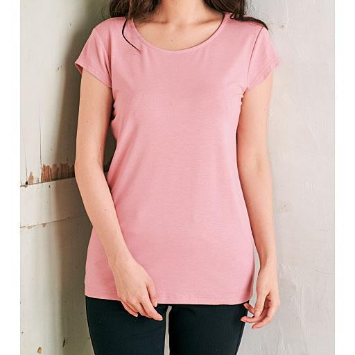 ひんやりを感じるフレンチ袖Tシャツ