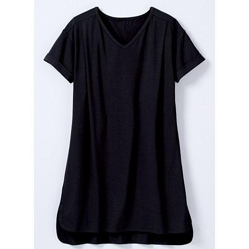 ひんやりを感じる半袖ロングTシャツ