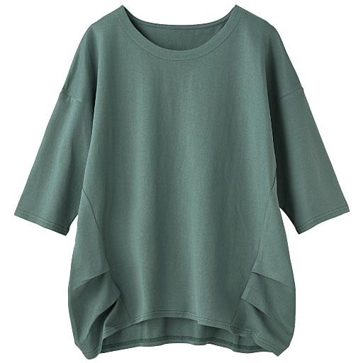 大人きれいなコットンタック入りTシャツ