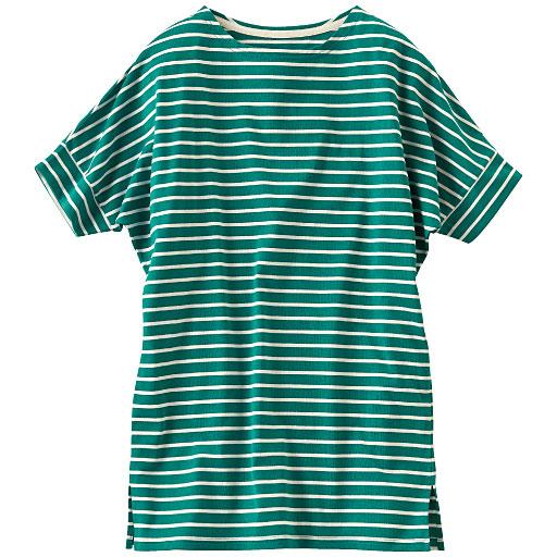 ドルマンボーダーロングTシャツ
