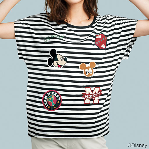 ゆるシルエットプリントTシャツ(ディズニー)