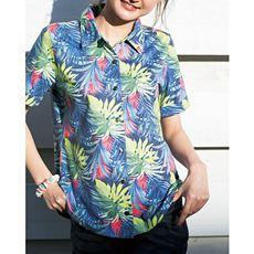カットソープリントシャツ
