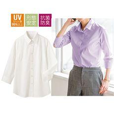 形態安定レギュラーシャツ(7分袖)