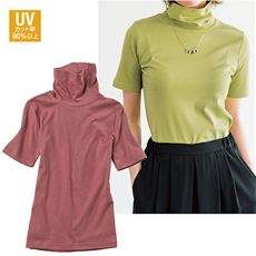 UVカットルーズネックTシャツ(半袖)