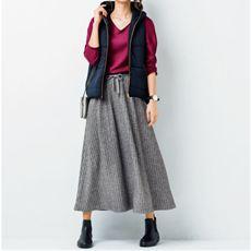 テレコロングスカート