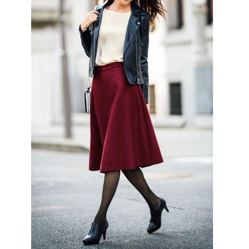 暖かみのある冬素材で季節を先取り!!旬映えスカート。