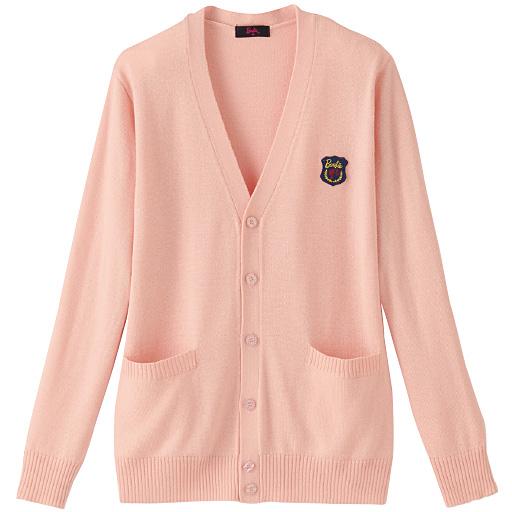 Barbie ワッペン付きVネックニットカーディガン(スクール・制服)