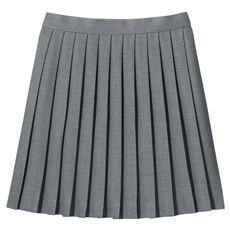 丈が選べる単色プリーツスカート(スクール・制服)