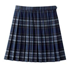 抗菌・防臭加工付き 丈が選べるチェック柄プリーツスカート(スクール・制服)