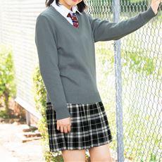 LIZ LISA doll 丈が選べるモノトーンチェック柄プリーツスカート(スクール・制服)
