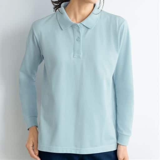 <セシール> 【レディース】 UVカットポロシャツ(長袖)画像