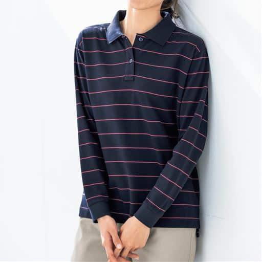 【SALE】 【レディース】 UVカットポロシャツ(長袖)(S-5L)