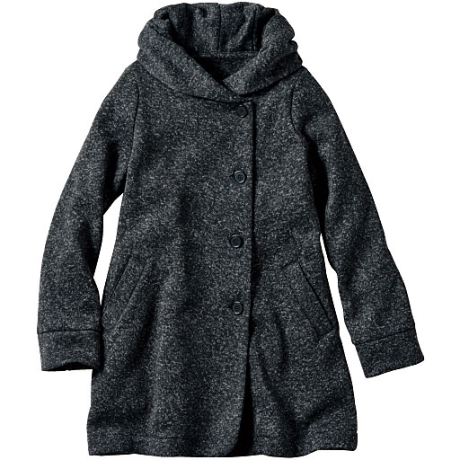 【レディース】 軽量裏起毛ショールカラーコート