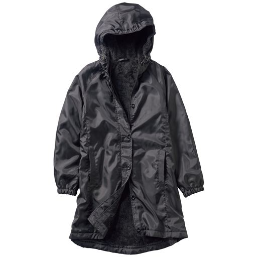 【レディース】 防風裏ボアロングジャンパー(選べる2丈・洗濯機OK) - セシール