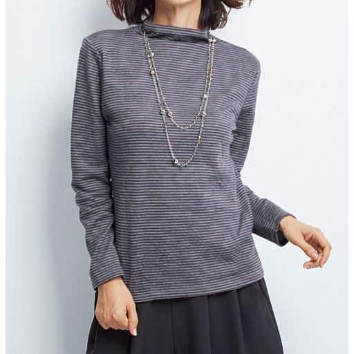 【レディース】 接結ウール混Tシャツ(日本製)の通販
