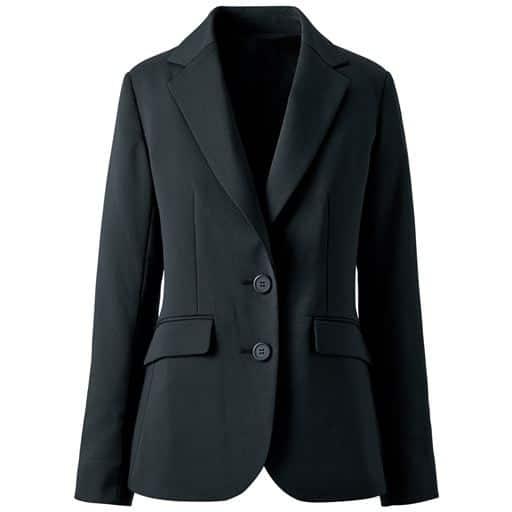 【レディース】 着丈が選べるスーツテーラードジャケット(事務服・洗濯機OK)