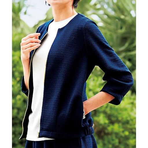 【SALE】 【レディース】 メッシュジャカードジャケット – セシール