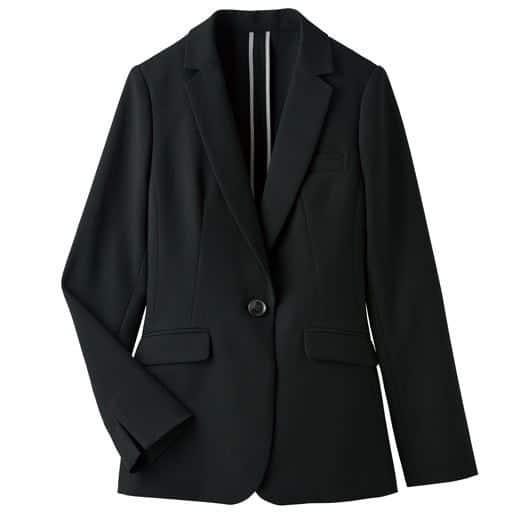 【レディース】 テーラードジャケット(洗濯機OK・速乾・形態安定・選べる2レングス) 11AR、9AR、13AR、17ABR、15ABR ブラック