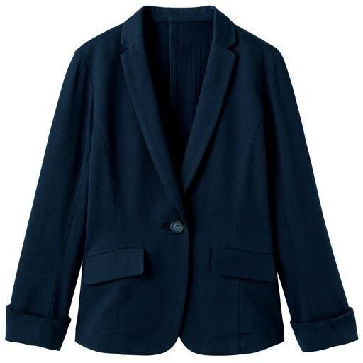 40%OFF【レディース】 カットソーテーラードジャケット(洗濯機OK・吸水速乾・選べる2レングス)