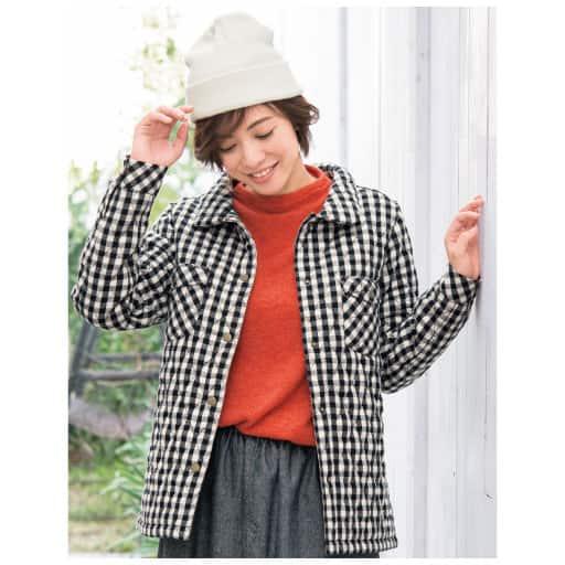 【SALE】 【レディース】 中綿キルティングシャツジャケットの通販