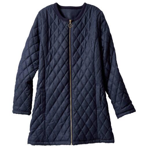 【SALE】 【レディース大きいサイズ】 中綿キルトジャケット