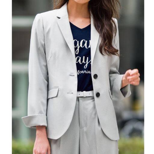 【レディース大きいサイズ】 テーラードジャケット(吸汗速乾・手洗いOK)の通販