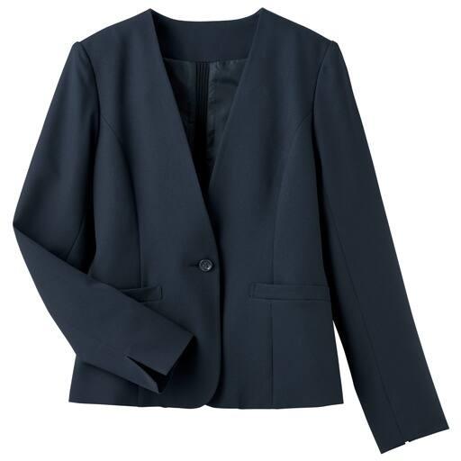 【レディース】 カラーレスジャケット(洗濯機OK)