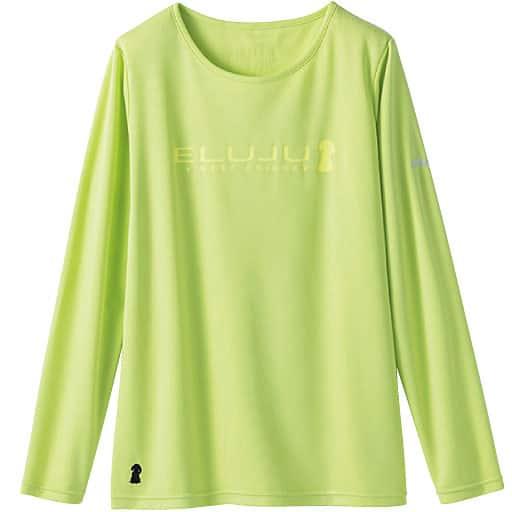 【レディース】 長袖プリントTシャツ(エルジュ)(吸汗速乾、UVカット)の通販