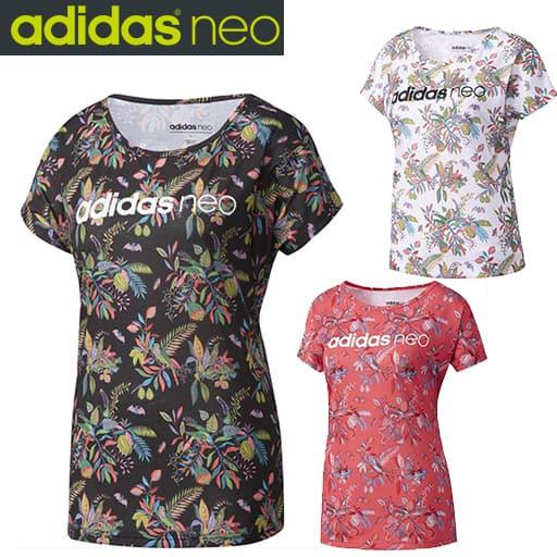 【レディース】 adidas HM FL 総柄Tシャツ Wの通販