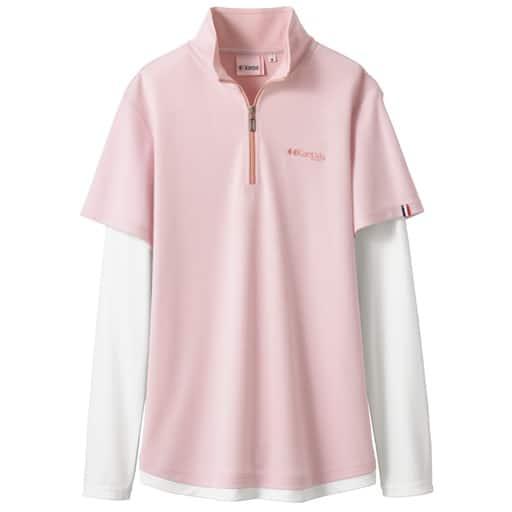 【レディース】 フェイクレイヤード長袖Tシャツ(Kaepa)(吸水速乾・UVカット)の通販