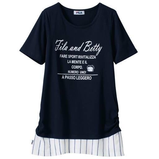 【レディース大きいサイズ】 レイヤード風Tシャツ(FILAxベティー)の通販