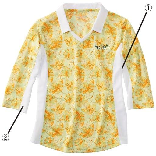 【レディース】 衿付き7分袖Tシャツの通販