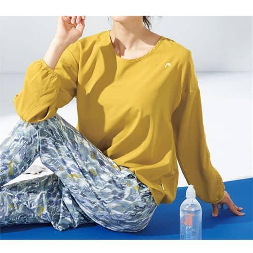 20%OFF【レディース】 シフォンロングTシャツ(HEAD)(UVカット・吸汗速乾)