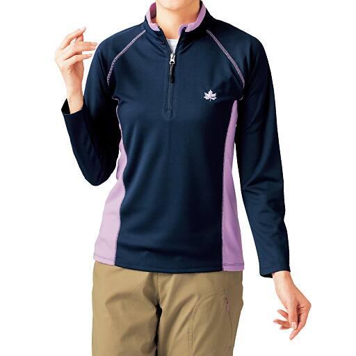 【SALE】 【レディース】 UVカットハーフジップTシャツの通販