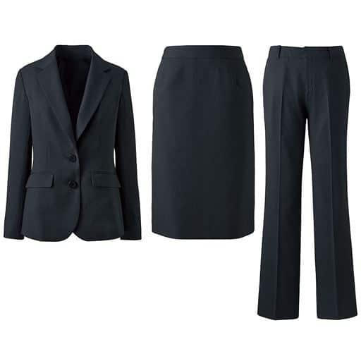 【レディース】 スーツ(3点セット)(ジャケット+スカート+パンツ)(洗濯機OK)の通販