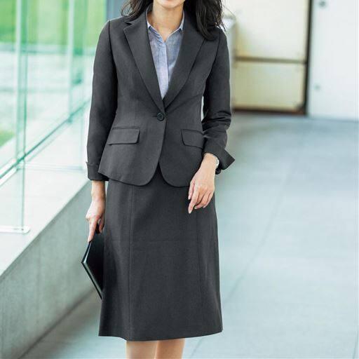 【レディース】 スカートスーツ(テーラードジャケット+マーメイドスカート)(事務服・洗濯機OK)の通販