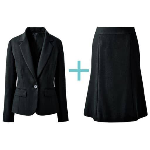 【レディース】 スカートスーツ(テーラードジャケット+マーメイドスカート)(事務服・洗濯機OK)