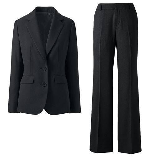 【レディース】 シルエットが選べるパンツスーツ(ブーツカットパンツ・ストレートパンツ)