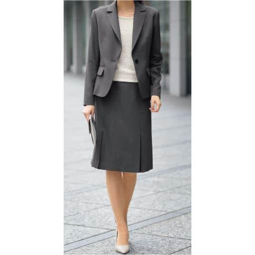 【レディース】 あったか裏地スカートスーツ(洗濯機OK・カイロポケット付き)
