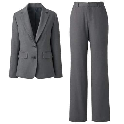 【レディース】 あったか裏地パンツスーツ(洗濯機OK・カイロポケット付き)