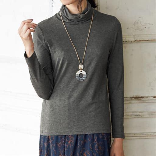 【SALE】 【レディース】 テンセルオフタートルTシャツ(日本製)の通販