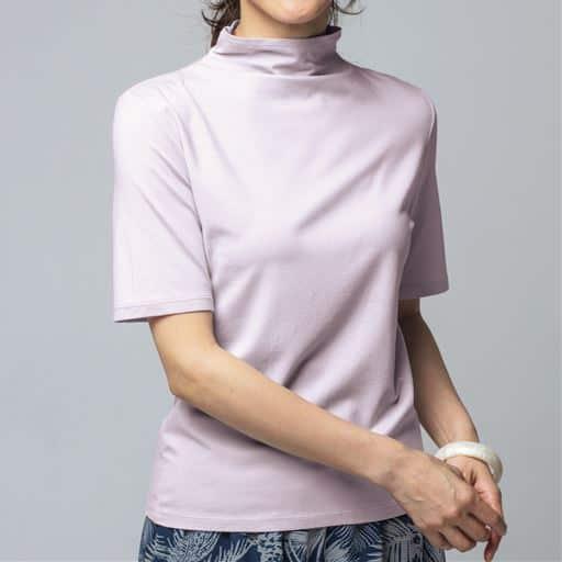 【レディース】 テンセルボトルネック5分袖Tシャツ(日本製)の通販