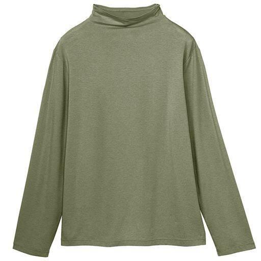 【レディース】 テンセルボトルネックTシャツ(日本製)の通販